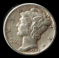 1942 P MERCURY 90  SILVER DIME SHIPS FREE. BUY 5 FOR $2 OFF