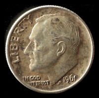 1961 P ROOSEVELT 90  SILVER DIME SHIPS FREE. BUY 5 FOR $2 OFF