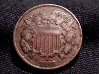 1868 COPPER 2 TWO CENT PIECE COIN VF-EXTRA FINE  BUY IT NOW OR OFFER