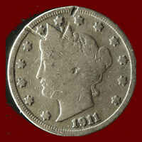 1911-P LIBERTY NICKEL SHIPS FREE. BUY 5 FOR $2 OFF