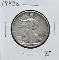 1943D EXTRA FINE   WALKING LIBERTY HALF DOLLAR 8A13ACU