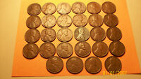 28 DIFFERENT LINCOLN WHEAT CENTS  FROM 1917-S TO 1955-S ALL S MINTSSEE PHOTO