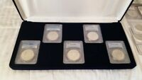 1878S 1879S 1880S 1881S 1882S MORGAN $1 DOLLAR 5 PIECE SILVER COIN SET PCGS MINT STATE 63