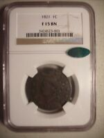 NGC CERTIFIED KEY DATE 1821 LARGE CENT CAC