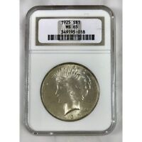 1925 PEACE DOLLAR NGC MINT STATE 65 501895