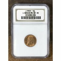 1909 LINCOLN CENT NGC MINT STATE 65 RD 8038108