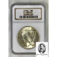 1922 PEACE DOLLAR NGC MINT STATE 64 402939
