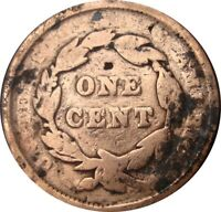 1842 BRAIDED HAIR LIBERTY HEAD LARGE CENTS