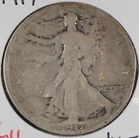 1917 50C WALKING LIBERTY HALF DOLLAR GOOD CONDITION 179197