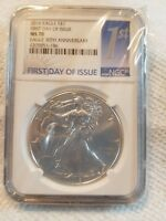 2016 AMERICAN SILVER EAGLE 1ST DAY OF ISSUE NGC MS 70