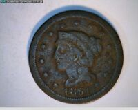 1851 LARGE CENT BRAIDED HAIR   24-54