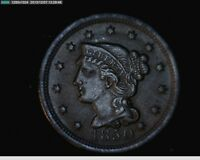 1850 BRAIDED HAIR LARGE CENT            5-21