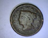 1848 BRAIDED HAIR LARGE CENT   29-73