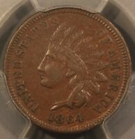 1864 LINDIAN HEAD CENT PCGS XF 45 SNOW 2B . PLEASING BROWN SURFACES