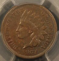 1873 INDIAN HEAD CENT CLOSED 3 SNOW 1 RPD PCGS VF 35. GOLD SHIELD. CHOICE VF.