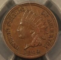 1864 INDIAN HEAD CENT PCGS AU 53 LATHE LINES VARIETY. TRUEVIEW. ERROR SLAB