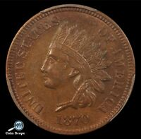 1870 INDIAN HEAD CENT PCGS MS 62 BN SNOW 8 MPD & DDR ULTRA  & SPECIAL COIN