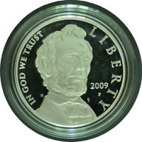2009 ABRAHAM LINCOLN PROOF SILVER DOLLAR IN OGP