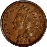 1892 INDIAN HEAD CENT PCGS AU 55 SCARFACE SNOW 14 ULTRA  VARIETY. PHOTO SEAL