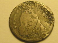 1853 ARROWS SEATED LIBERTY HALF DIME CULL