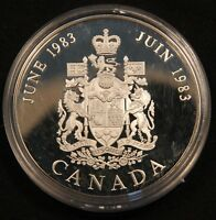 1983 CANADA ROYAL WEDDING SILVER COMMEMORATIVE PROOF COIN CHARLES & DIANA 32MM