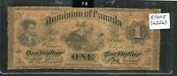 Click now to see the BUY IT NOW Price! 1870 DOMINION OF CANADA $1 ONE DOLLAR RADAR SERIAL  362263  DC 2B ULTRA