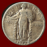 1926 S STANDING LIBERTY 90  SILVER QUARTER SHIPS FREE. BUY 5 FOR $2 OFF