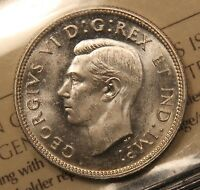 1941 CANADA SILVER 25 CENTS. ICCS MS 65 CAMEO. GEM UNCIRCULATED. BV $280.