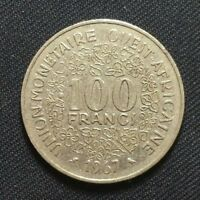 1967 WEST AFRICAN STATES 100 FRANCS 1681