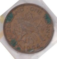 H101 7  1964 NZ ONE PENNY COIN  G
