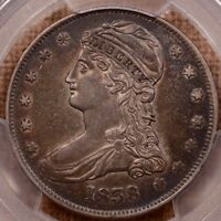 1838 REEDED EDGE CAPPED BUST HALF DOLLAR 50C PCGS XF45 CAC CERT  26233289