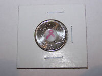 2006    CANADIAN QUARTER PINK RIBBON CANCER 25 CENTS COIN UNC