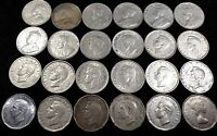 LOT OF 24 CANADIAN 5C NICKELS 1922 1956 MIXED DATES