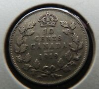 1919 CANADA DIME .10 CENTS SILVER COIN GEORGE V