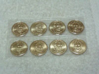 2009-P & D PRESIDENTIAL DOLLAR SET SATIN FINISH  8 COINS UNC FROM  MINT SET