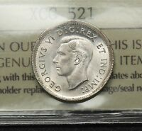 1943 CANADA SILVER 10 CENTS ICCS MS 65 GEM UNCIRCULATED. SATINY LUSTRE. BV $250