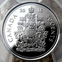 PCGS CERTIFIED MS67 CANADA 2016 50 CENT OUTSTANDING UNCIRCULATED GRADED COIN