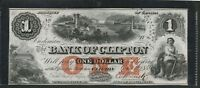 1859 $1 BANK OF CLIFTON AU  CH 10 04 02. CANADA CHARTER NOTE ONE DOLLAR.