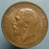 1921 GEORGE V PENNY   LUSTROUS BROWN UNCIRCULATED