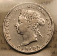 1889 CANADA 25 CENTS. ICCS F 15. KEY DATE  BV $800. SALE PRICE.