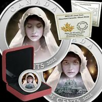 2014 GHOST BRIDE CANADA HOLOGRAM COLORIZED 25 CENTS HAUNTED SERIES W COA & CASE