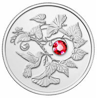 2013 CANADA $3 HUMMINGBIRD WITH MORNING GLORY FINE SILVER REVERSE PROOF COIN