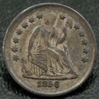 1856 H10C SEATED LIBERTY HALF DIME VF  FINE  ORIGINAL NO PROBLEM COIN