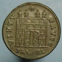 CONSTANTINE THE GREAT VIRTVS AVGG CAMP GATE FROM ARLES   HIGH GRADE &