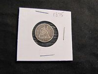 1875 SEATED LIBERTY SILVER DIME