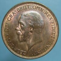 CHOICE TONED UNCIRCULATED 1929 GEORGE V PENNY