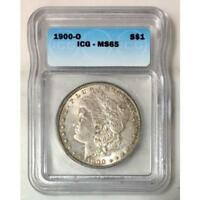 1900 O MORGAN DOLLAR ICG MINT STATE 65 REV TYE'S 240590