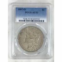 1897 O MORGAN DOLLAR PCGS AU53 REV TYE'S 351084