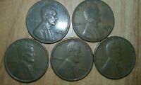1949 P, 1949 D, 1950 P, 1950 D & 1950 S LINCOLN CENTS, NOT STOCK PHOTO
