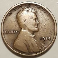 1914 D LINCOLN WHEAT CENT  KEY DATE  08198D
